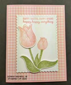 Spring/Easter card with tulips
