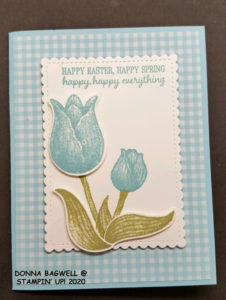 Spring/Easter card wth tulips