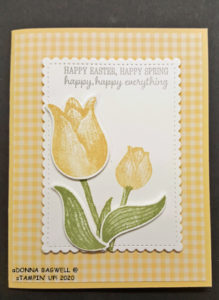Easter/Spring card with tulips