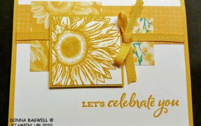 SUNFLOWER CARD IN BUMBLEBEE
